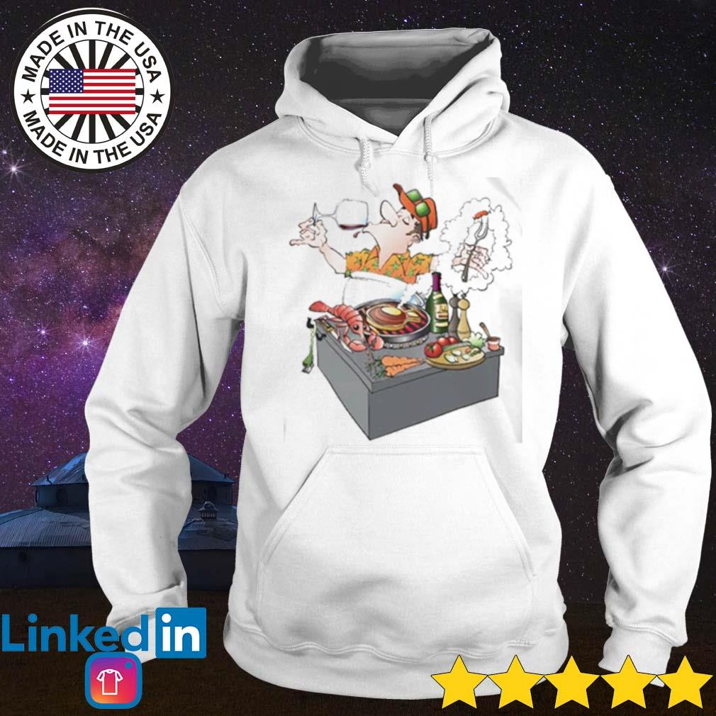 Grillmaster inviting to a grill party s Hoodie