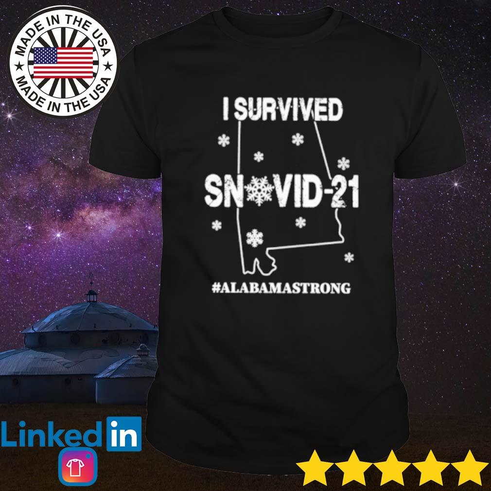 I survived snovid 2021 Alabama strong shirt