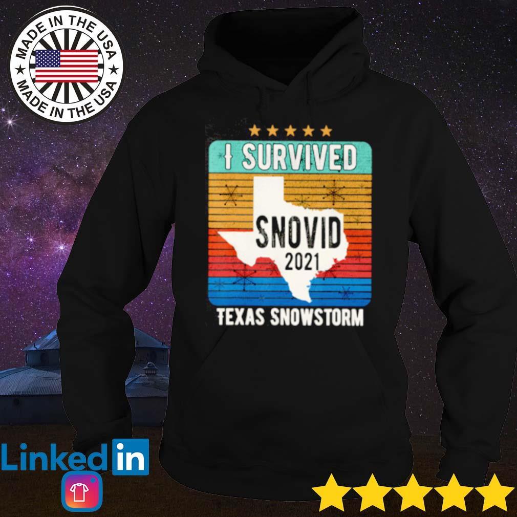 I survived snovid 2021 Texas snowstorm 14 vintage s Hoodie