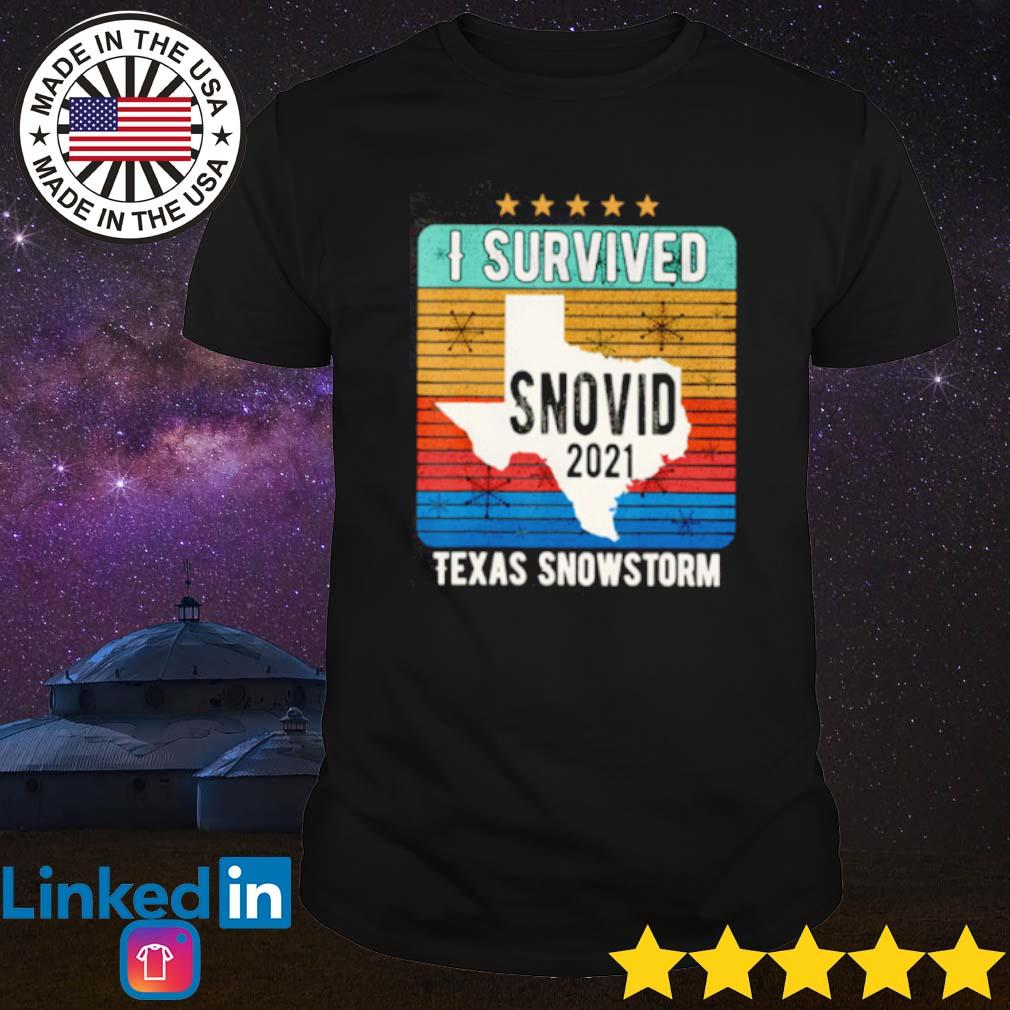 I survived snovid 2021 Texas snowstorm 14 vintage shirt