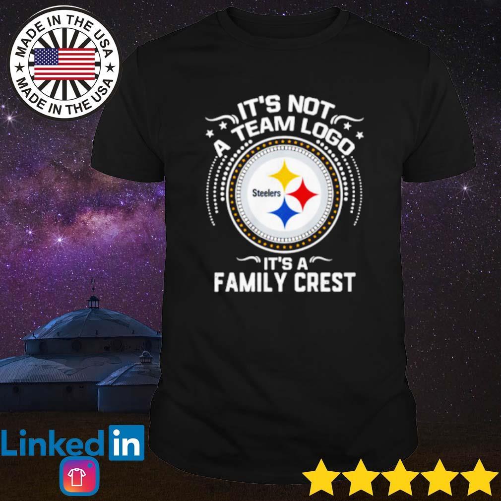 It's not a team logo Steelers it's a family crest shirt
