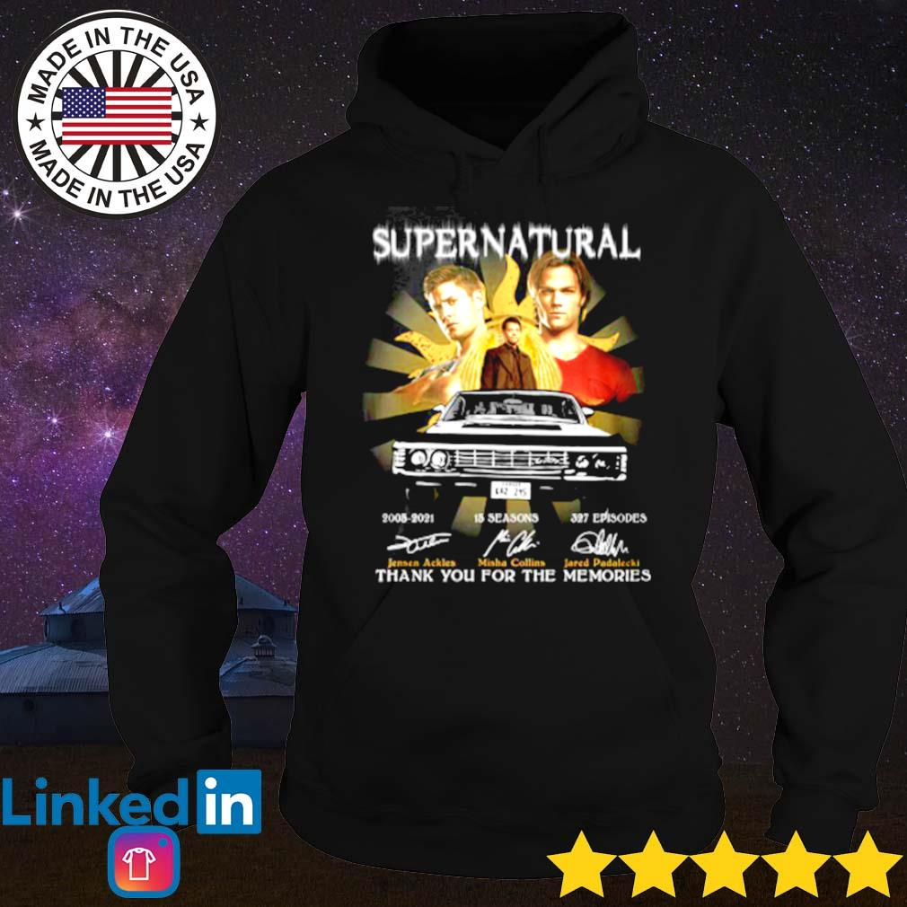 Supernatural 2005-2021 thank you for the memories signatures s Hoodie