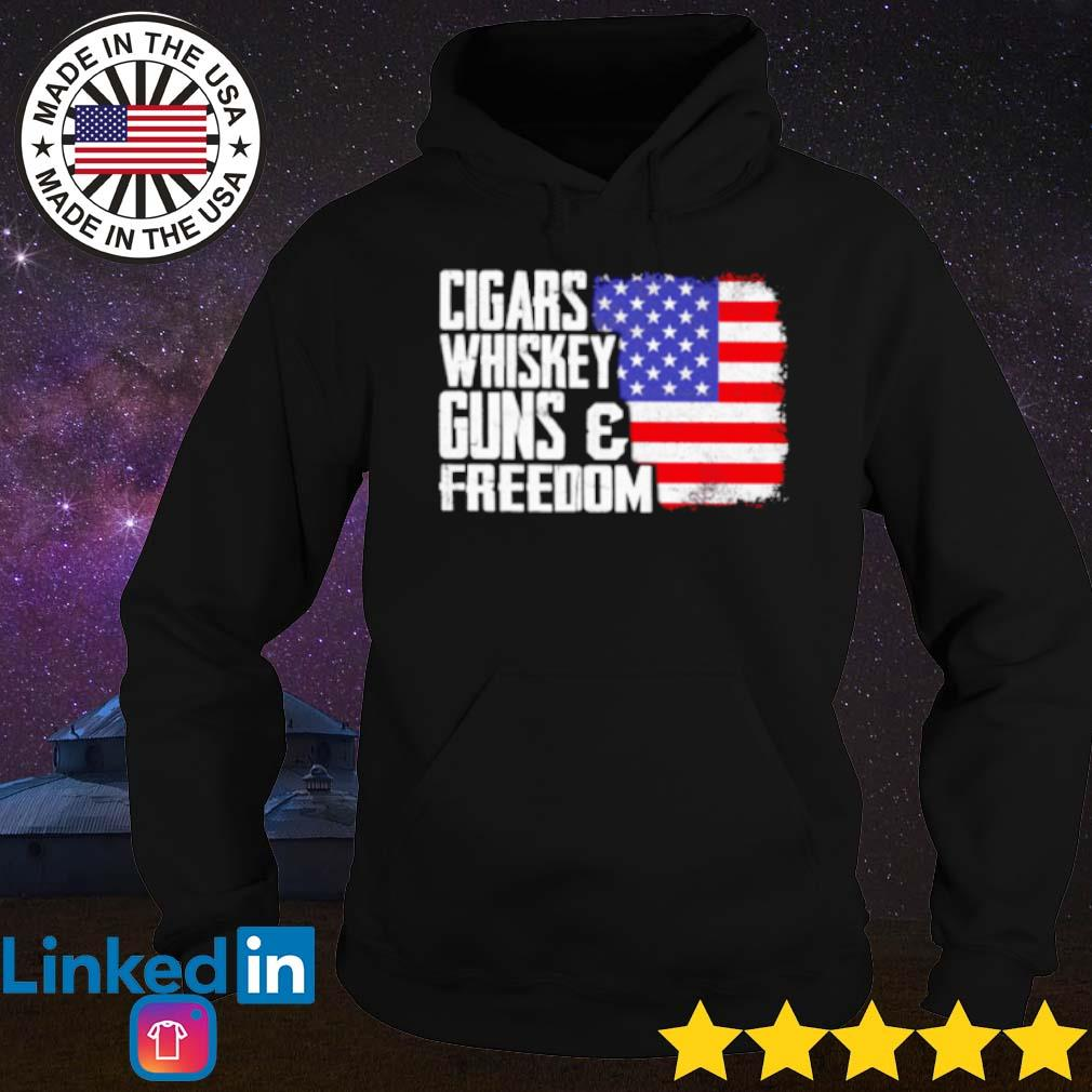 USA flag cigar whiskey gun and freedom s Hoodie
