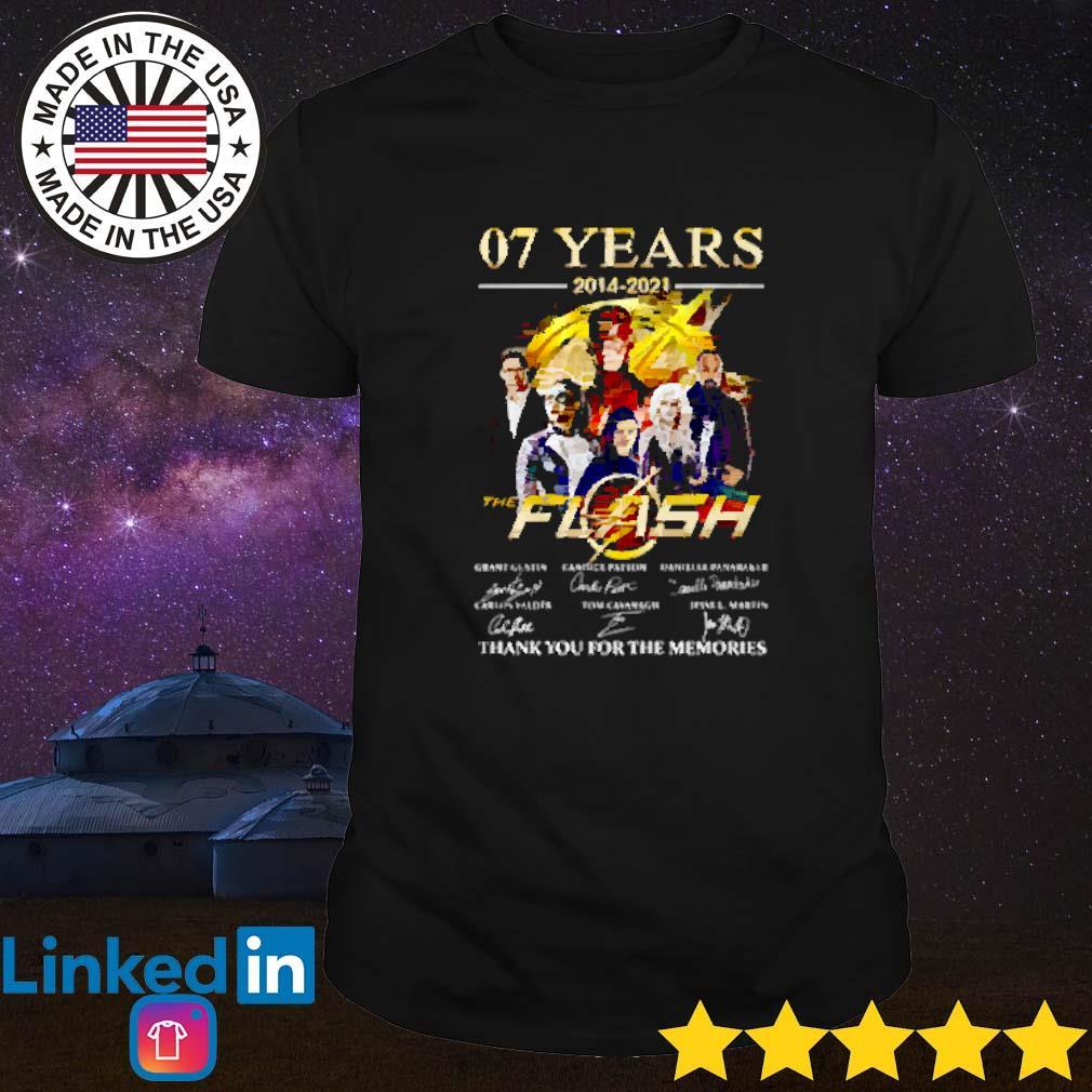 07 Years of the flash 2014-2021 signature shirt