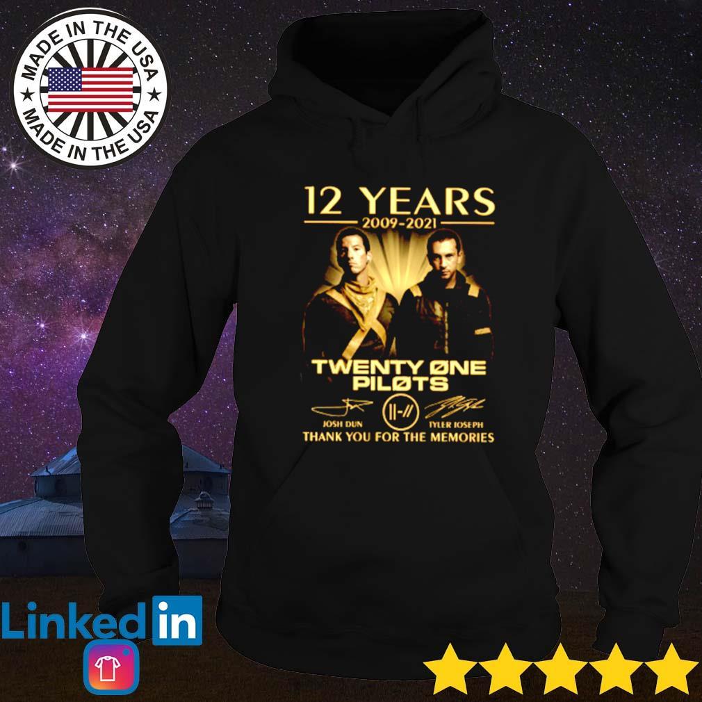12 Years of Twenty one Pilots 2009-2021 signature Hoodie