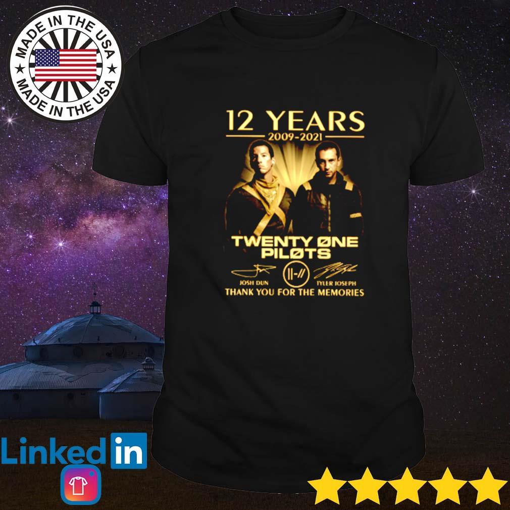 12 Years of Twenty one Pilots 2009-2021 signature shirt