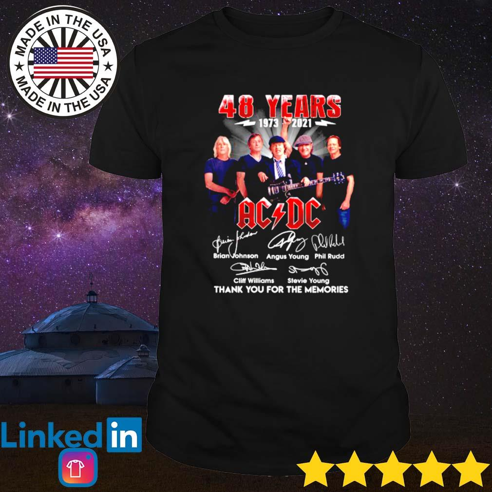 48 Years of ACDC 1973-2021 all members shirt