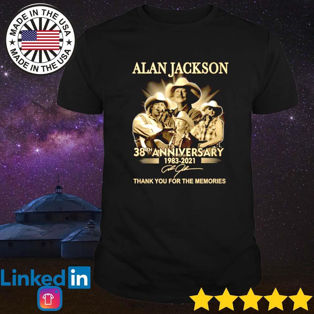 Alan Jackson 38th anniversary 1983-2021 shirt