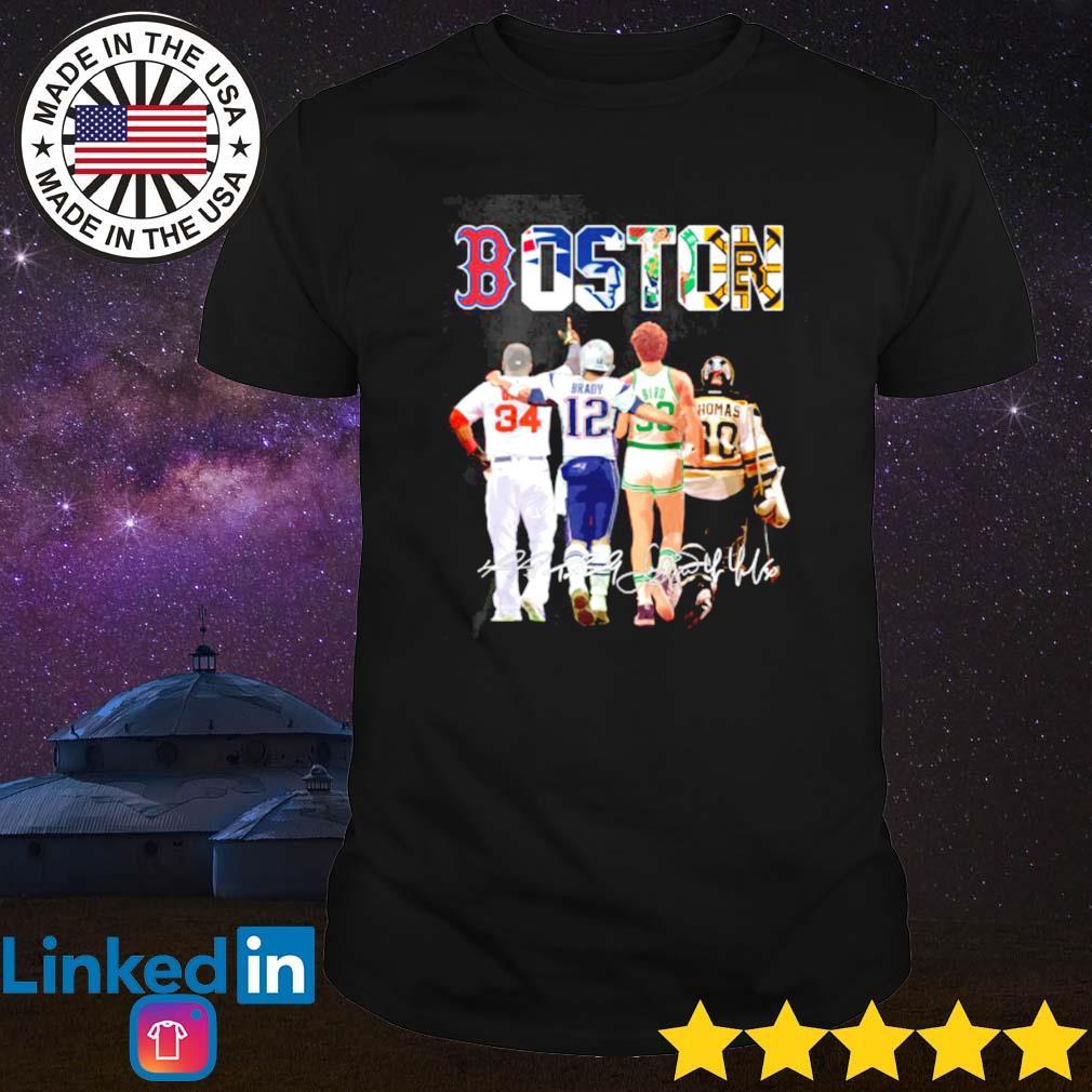 David Ortiz Tom Brady Larry Bird Tim Thomas Boston shirt