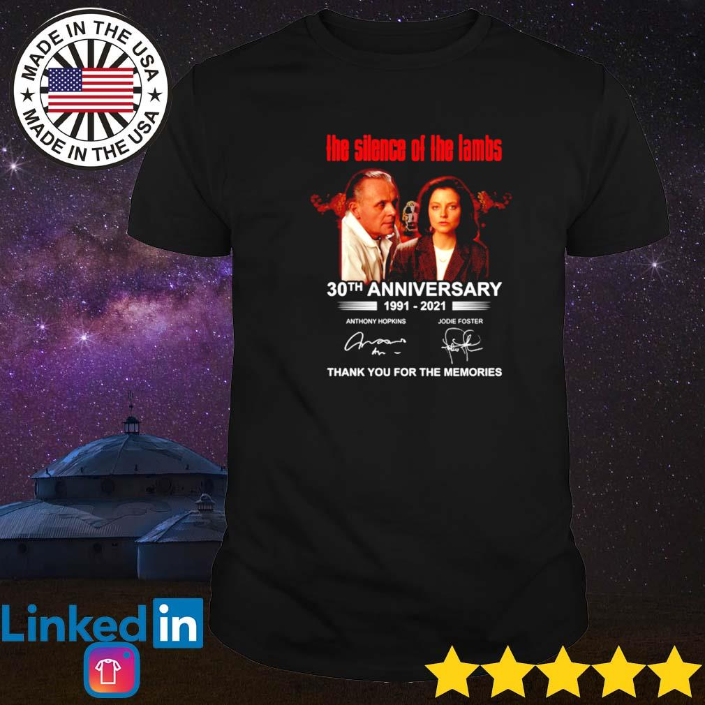 The silence of the lambs 30th anniversary 1991-2021 shirt