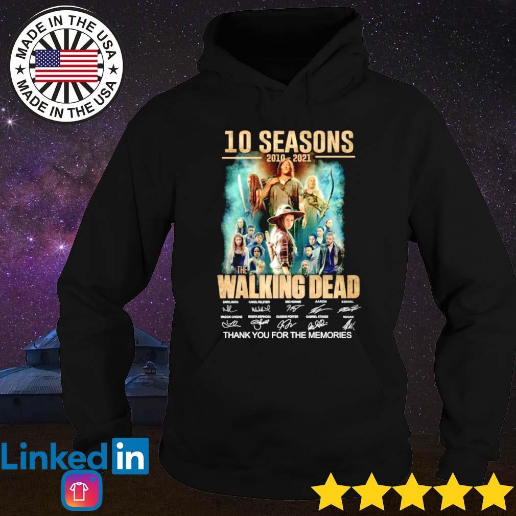 10 Seasons 2010-2021 the Walking Dead signature Hoodie