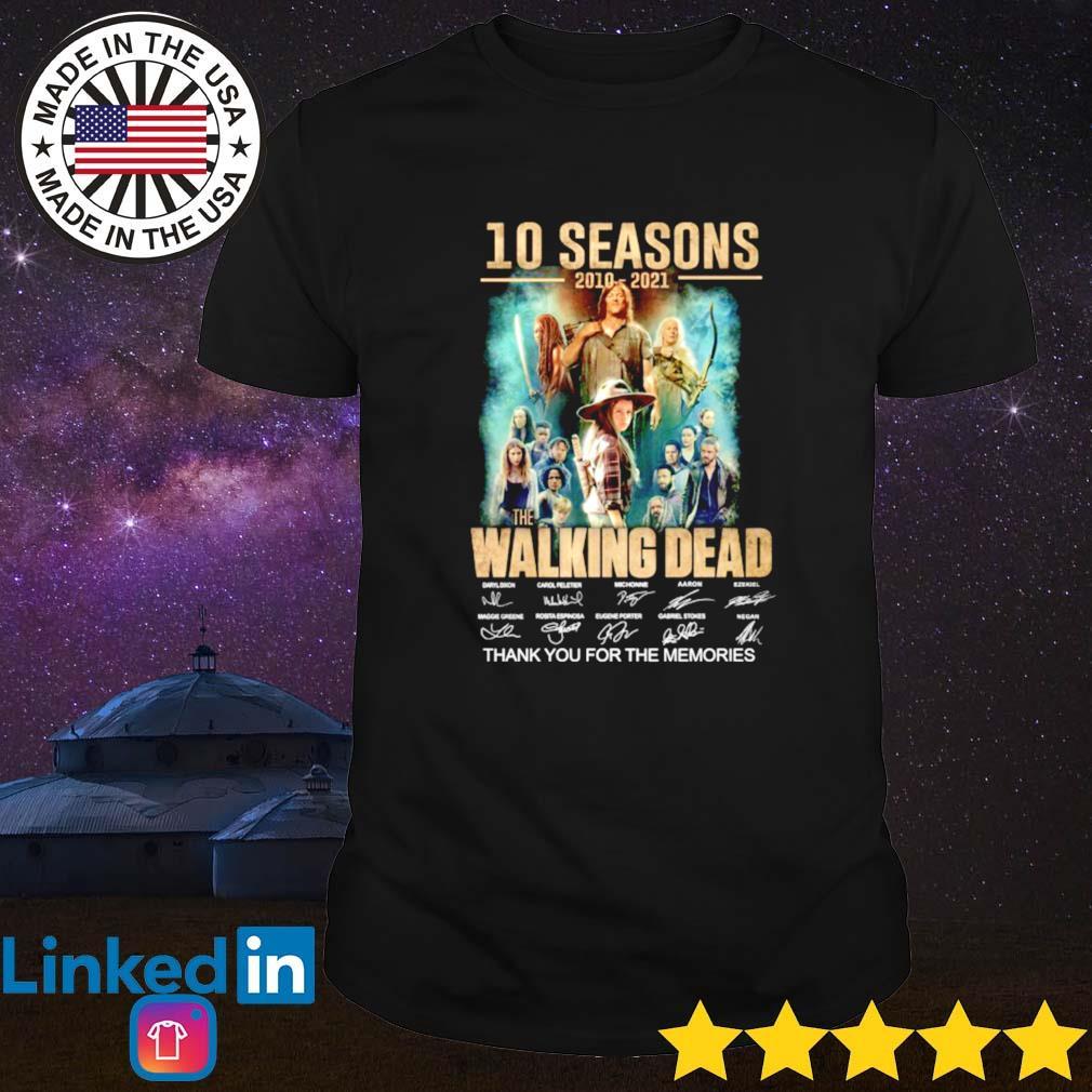 10 Seasons 2010-2021 the Walking Dead signature shirt