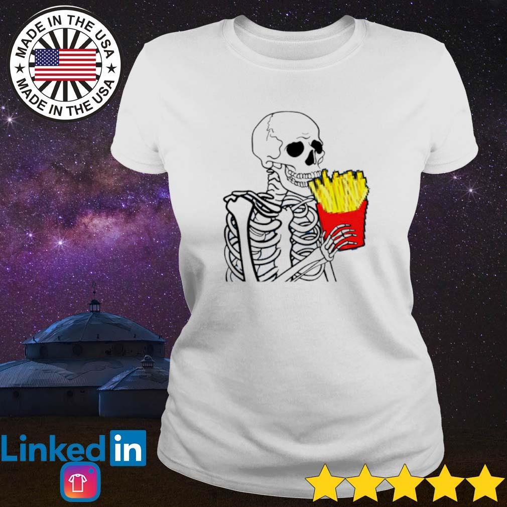 7 French Fries Skeleton Ladies tee
