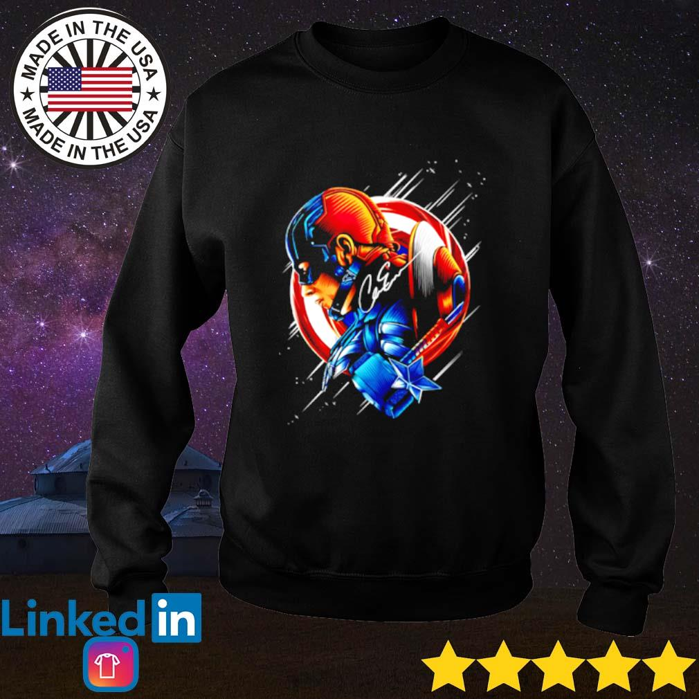 Captain America Chris Evans signature Sweater