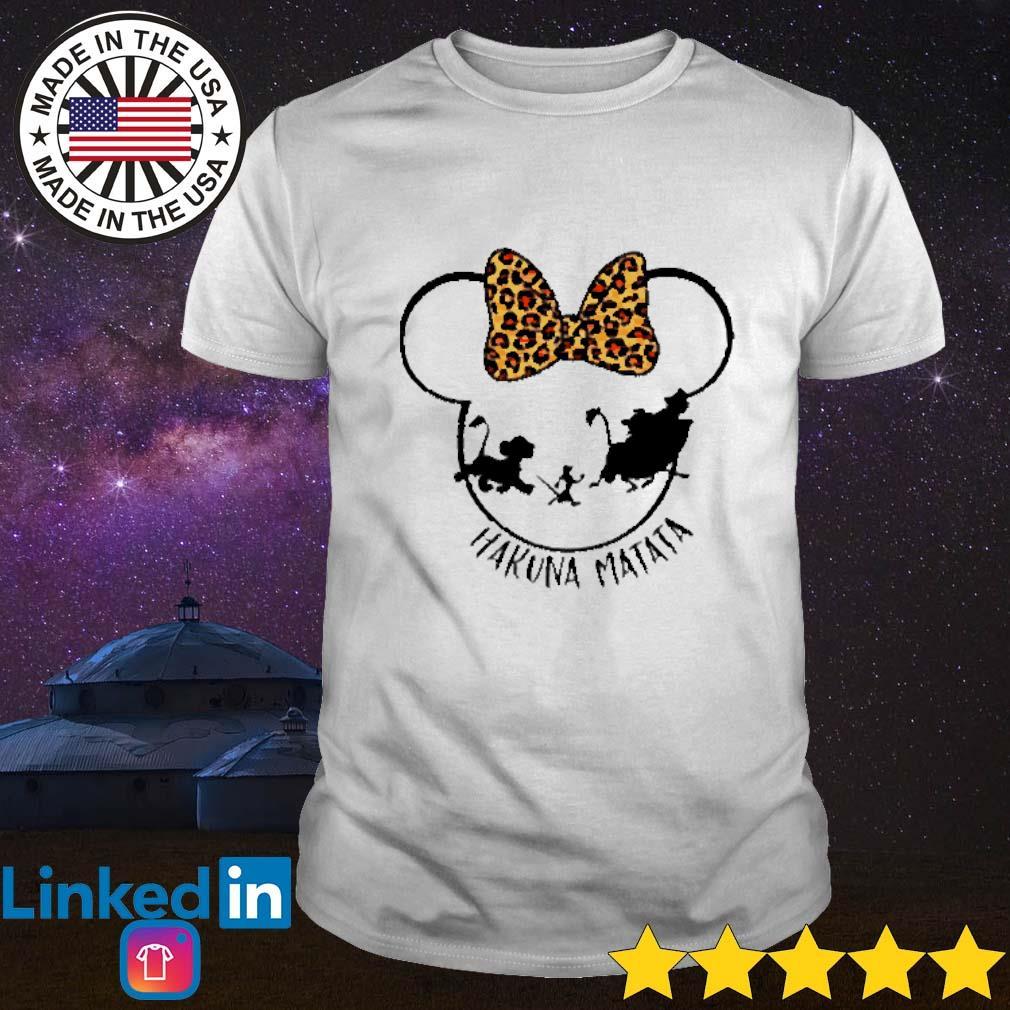 Disney Mickey Mouse Hakuna Matata leopard shirt