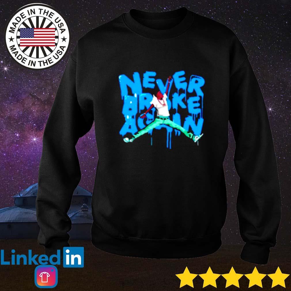 Jumpman never broke again NBA Sweater