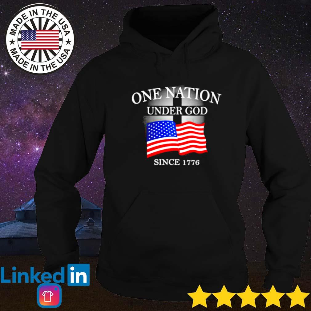 One nation under god American flag since 1776 Hoodie