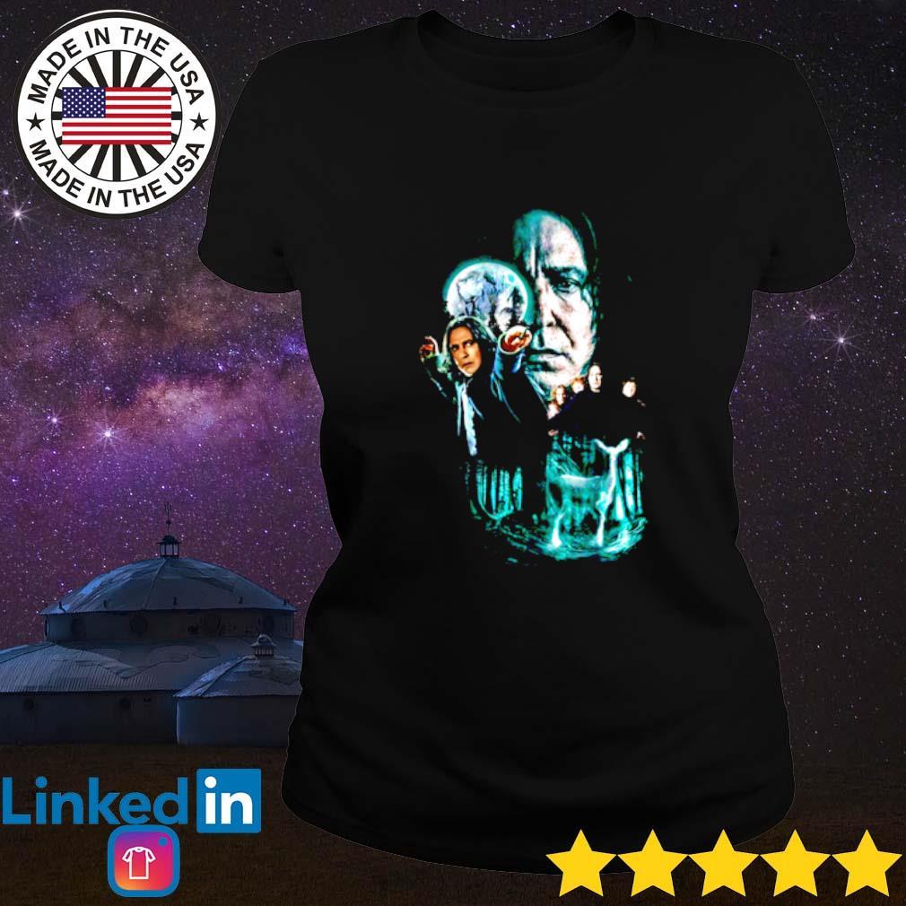 Professor Severus Snape moon and deer light Ladies tee