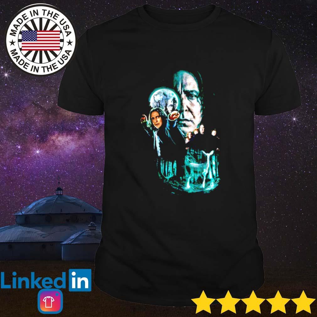 Professor Severus Snape moon and deer light shirt