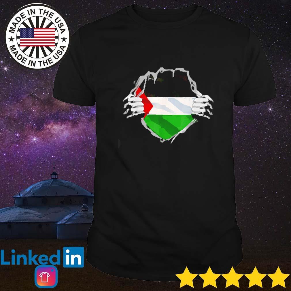 Super Palestinian Heritage Flag inside me shirt