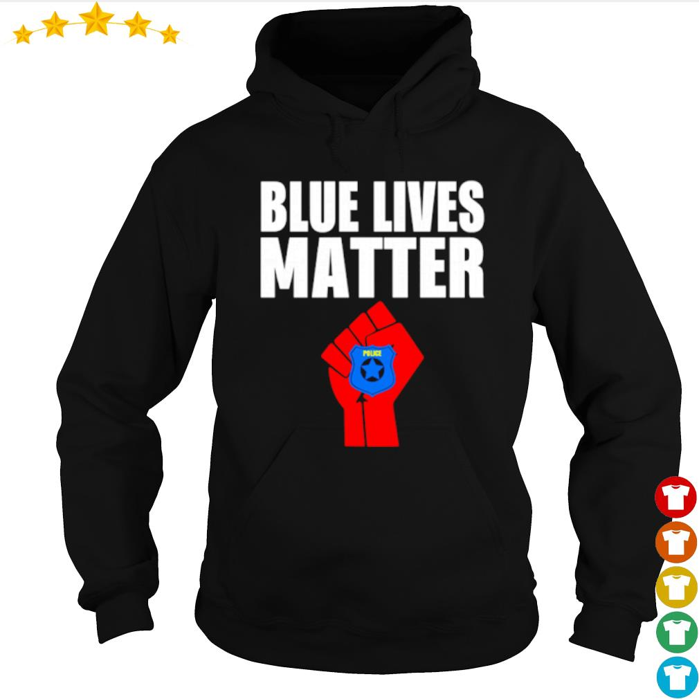 Strong hand Police blue lives matter s hoodie