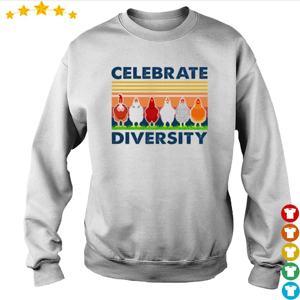 Vintage chicken celebrate diversity s Sweater