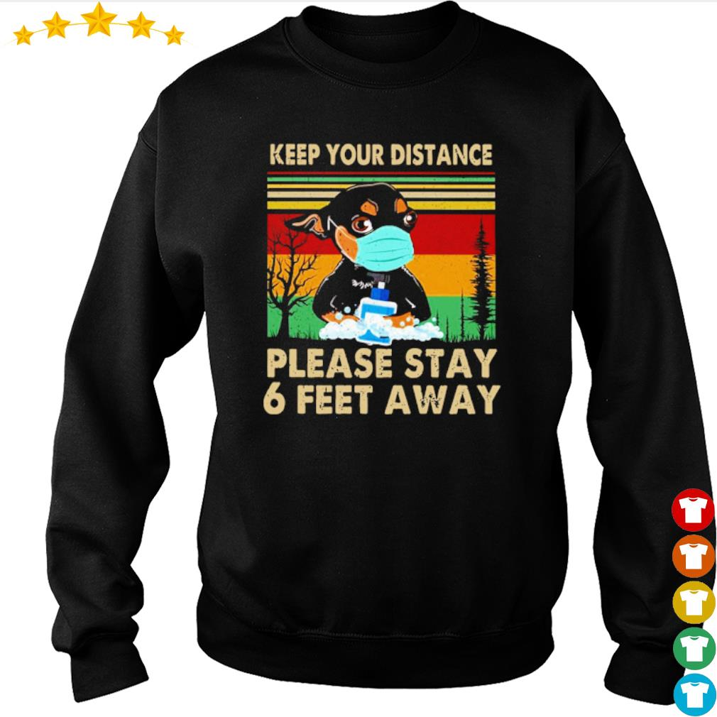 Vintage Chihuahua keep your distance please stay 6 feet away s sweater