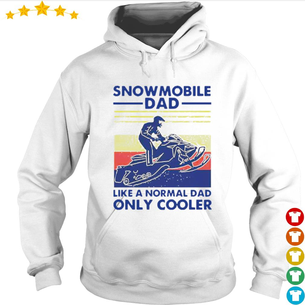 Vintage Snowmobile dad like a normal dad only cooler s Hoodie