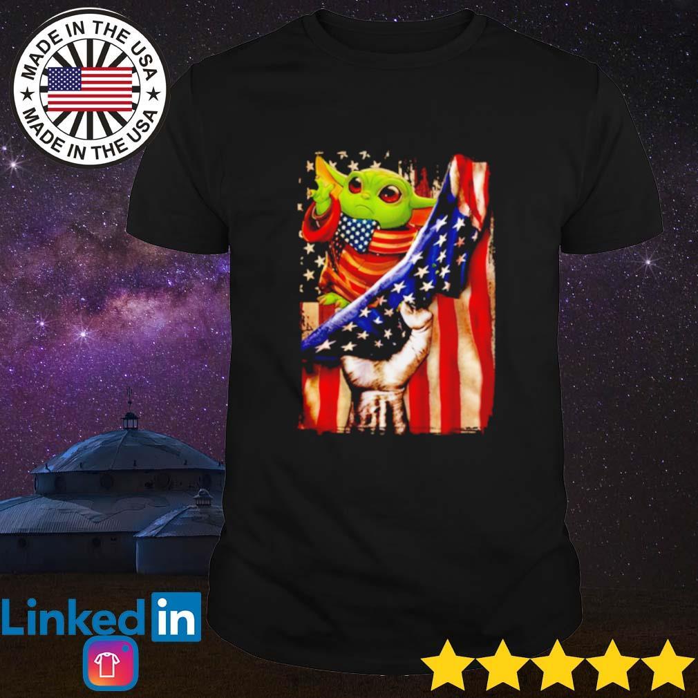 Baby Yoda American Flag shirt