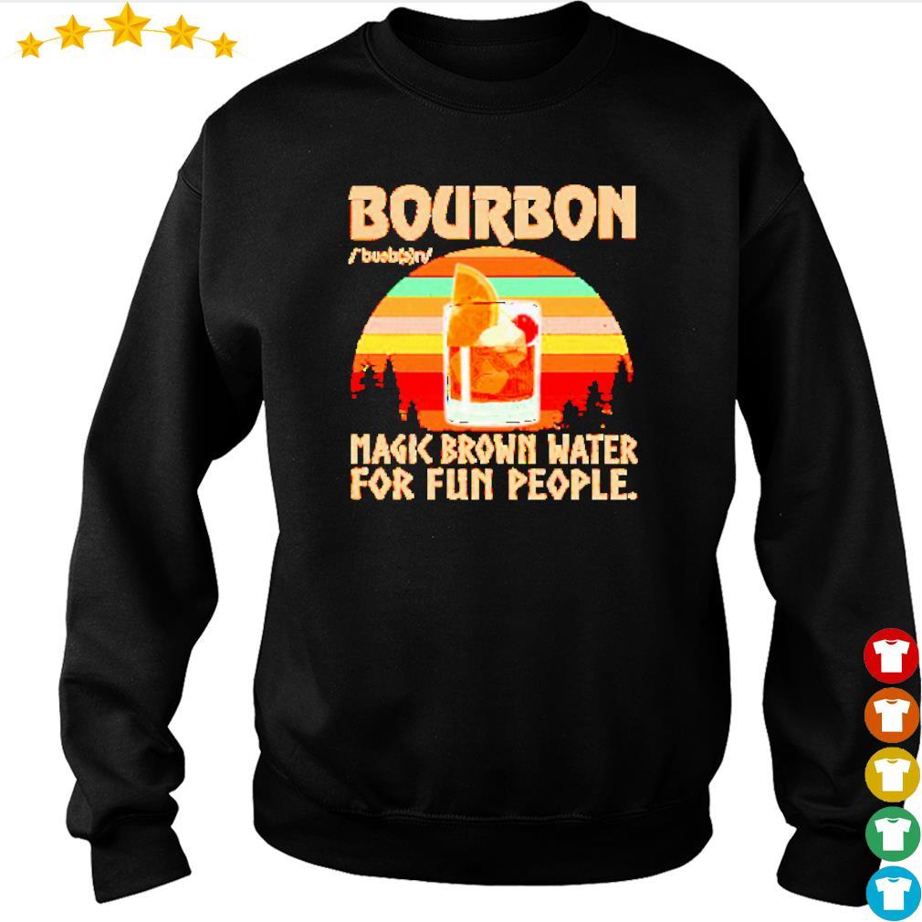 Bourbon noun magic brown water for fun people vintage s sweater