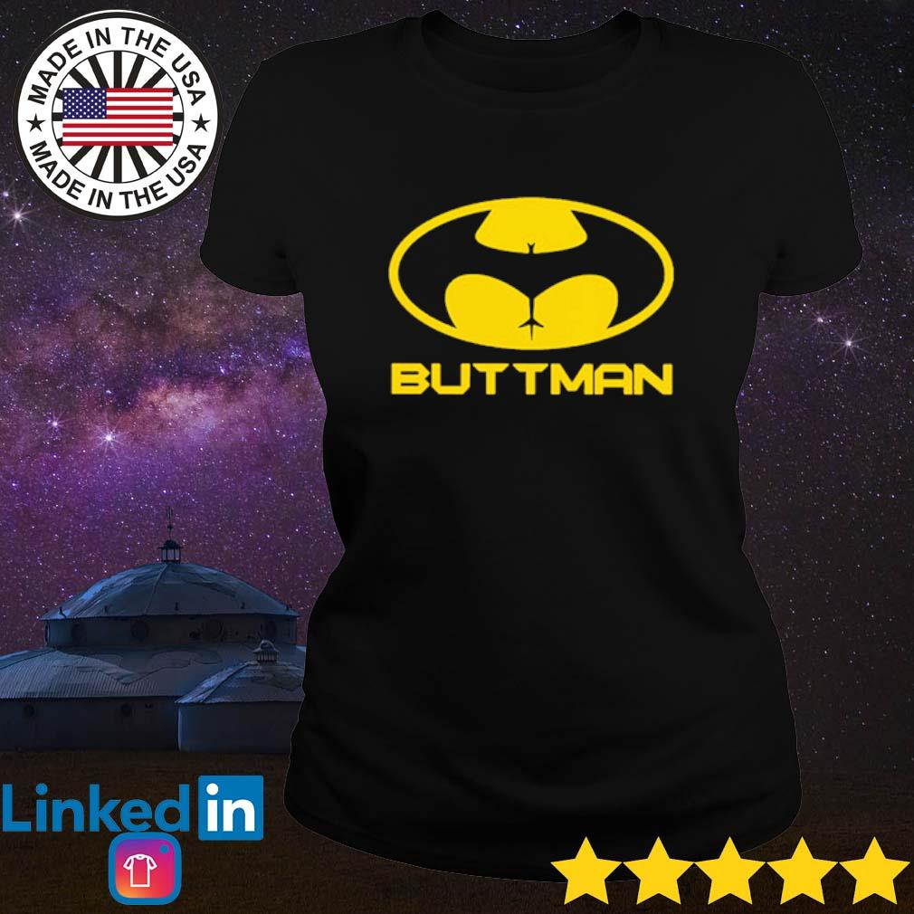 Buttman Batman s Ladies Tee Black