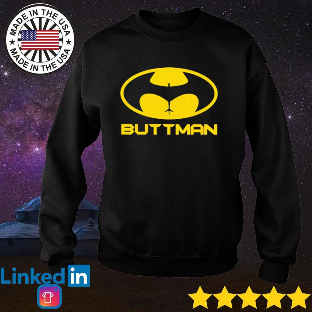 Buttman Batman s Sweater Black