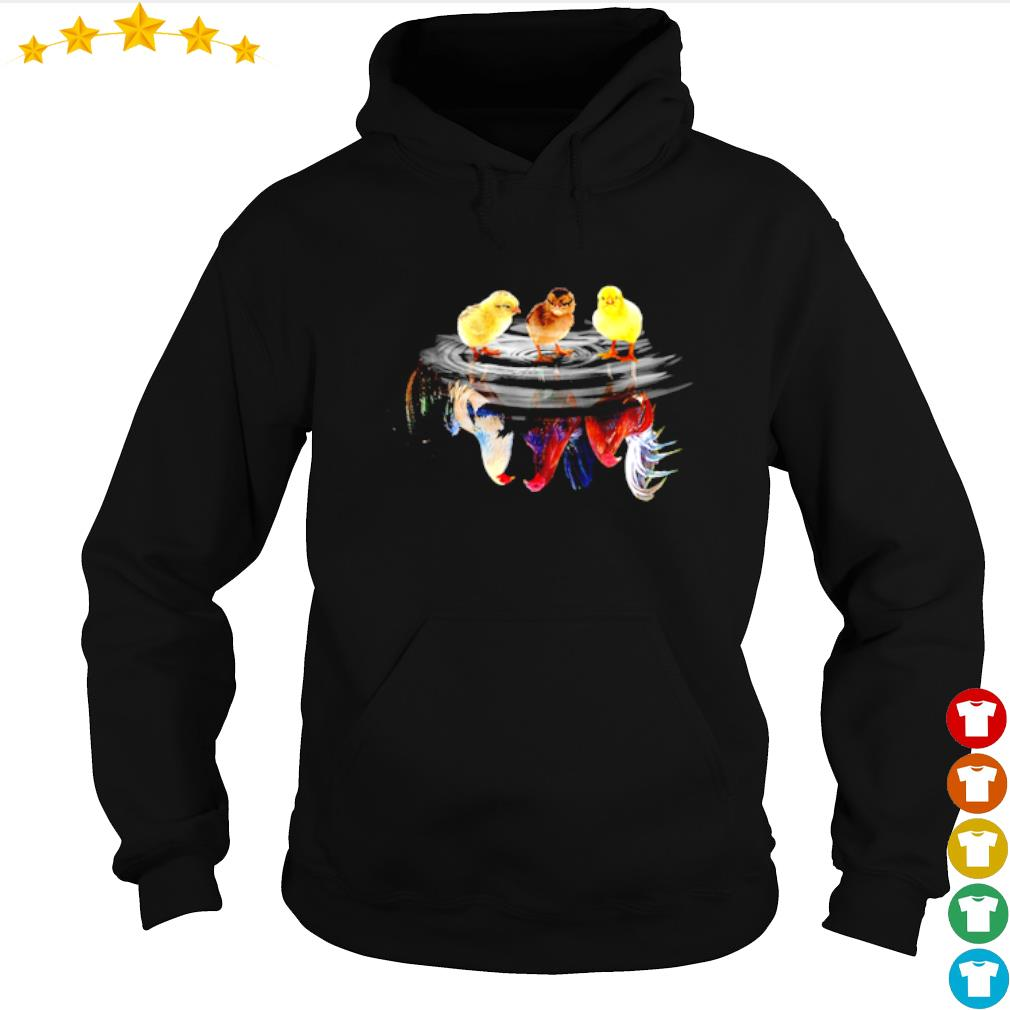 Child Rooster water mirror reflection s hoodie