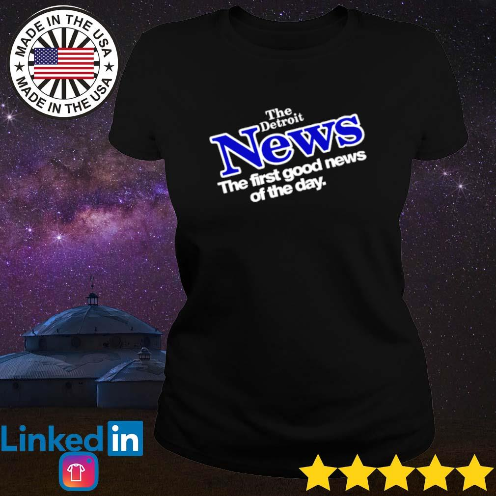 Drew Barrymore The Detroit News the first good news of the day s Ladies Tee Black