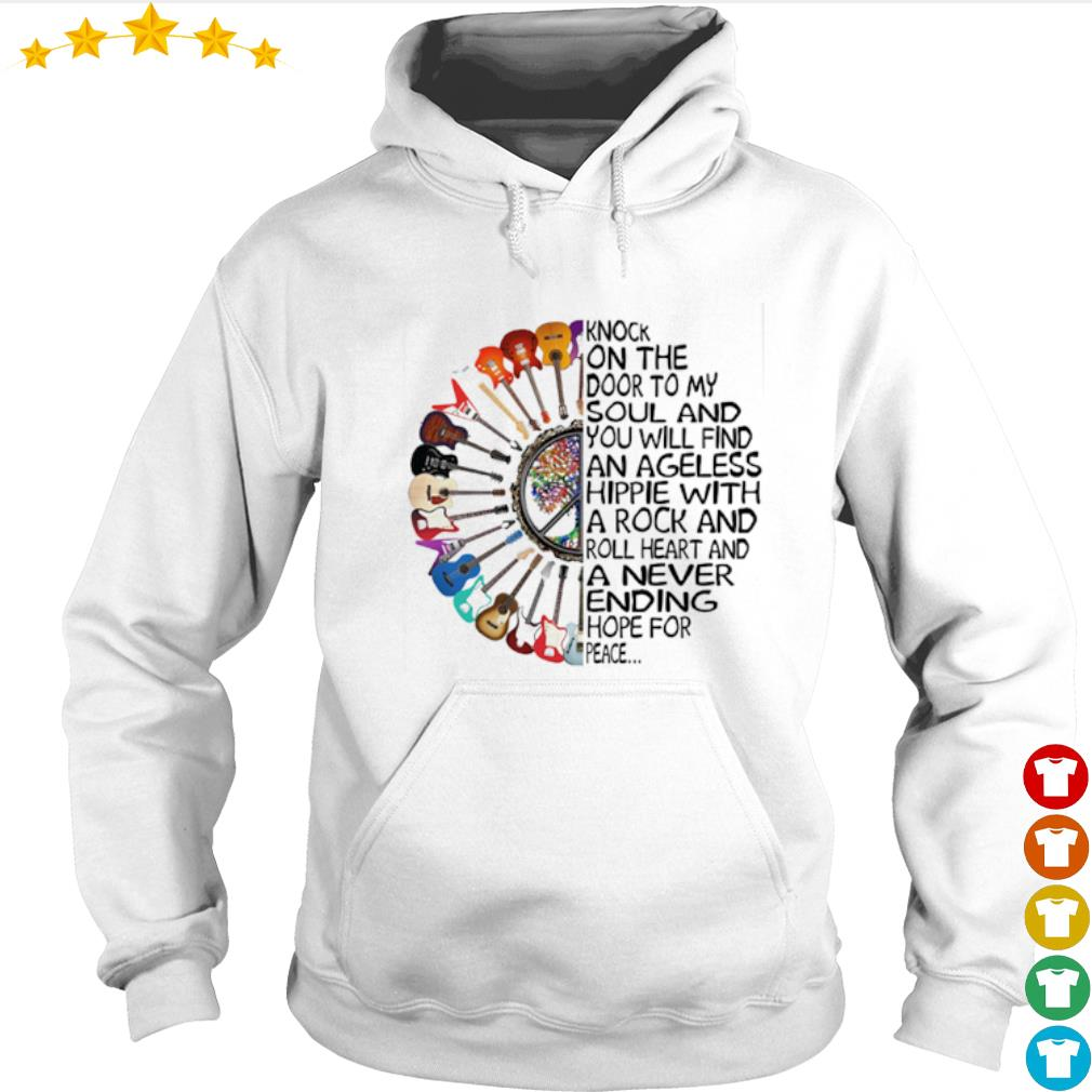 Guitar Knock on the door to my soul and you will find an ageless hippie s Hoodie