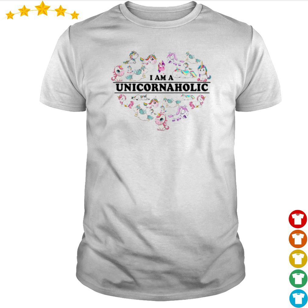 Heart I am a Unicorn aholic shirt
