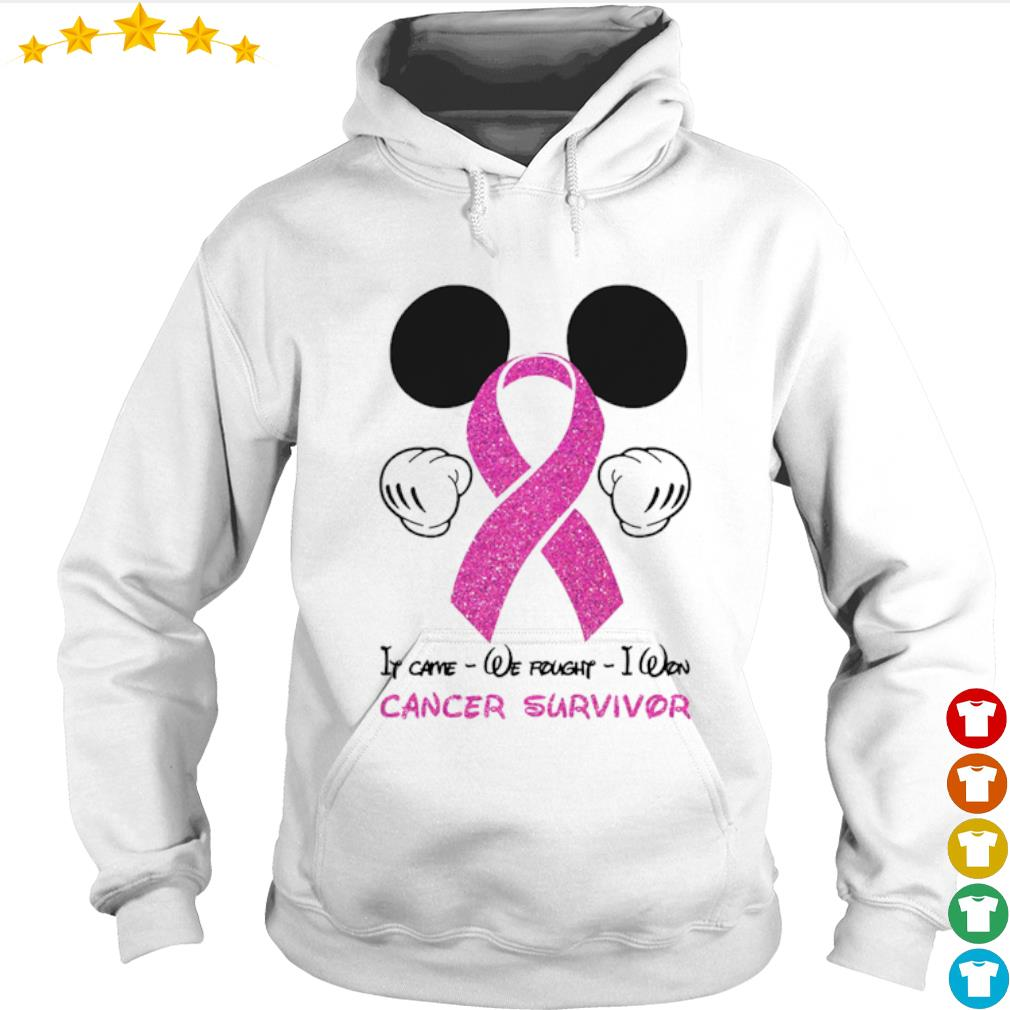 Mickey mouse if came we fought I won cancer awareness survivor s Hoodie
