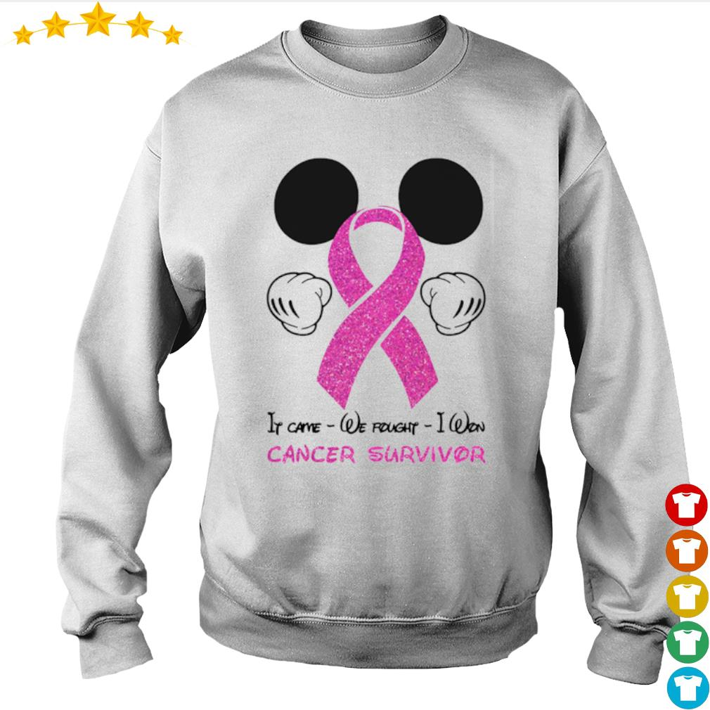 Mickey mouse if came we fought I won cancer awareness survivor s Sweater