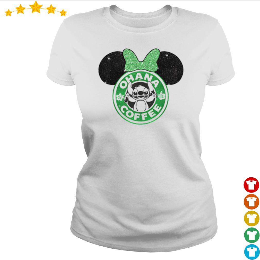 Mickey Mouse Starbucks Stitch Ohana coffee s Ladies-tee