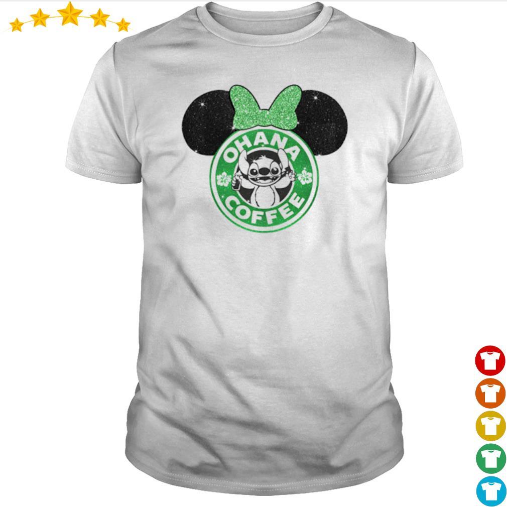 Mickey Mouse Starbucks Stitch Ohana coffee shirt