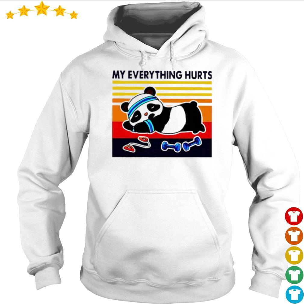 Panda Fitness my everything hurts s Hoodie