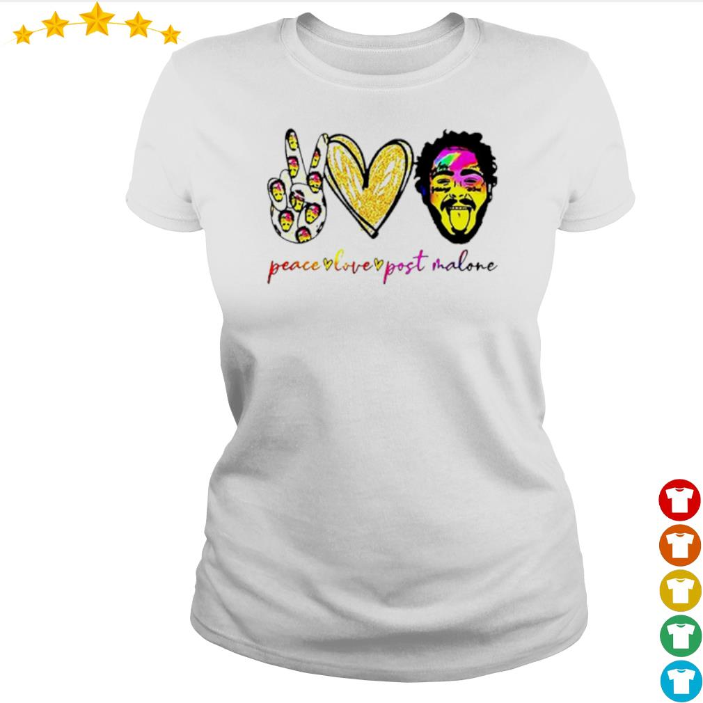 Peace live Post Malone s Ladies-tee