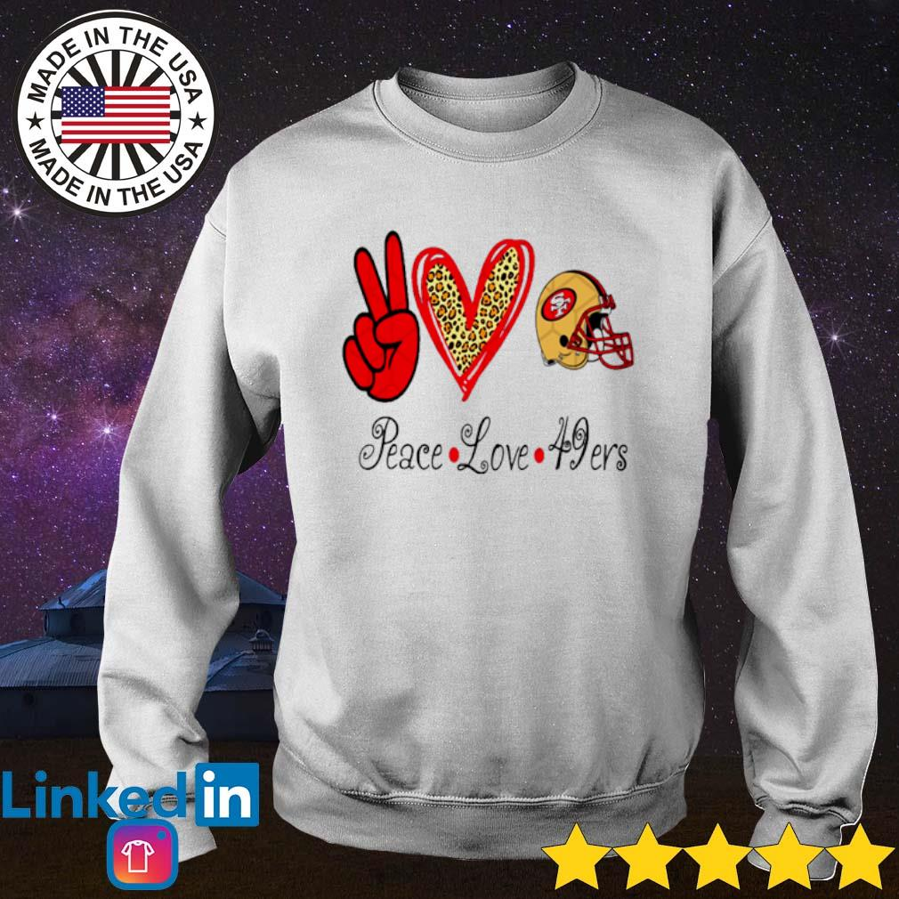 Peace Love 49ers San Francisco 49ers s Sweater White