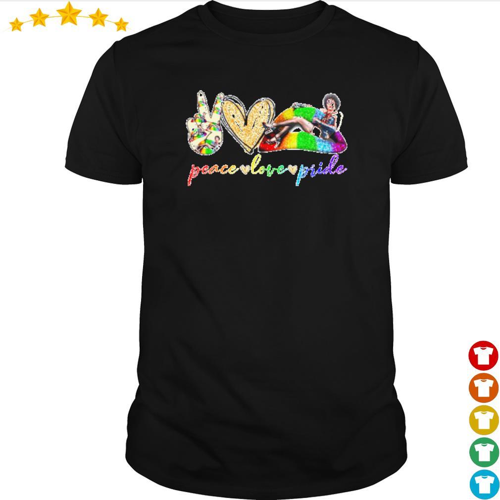 Peace love pride LGBT Lips Frank N. Furter shirt