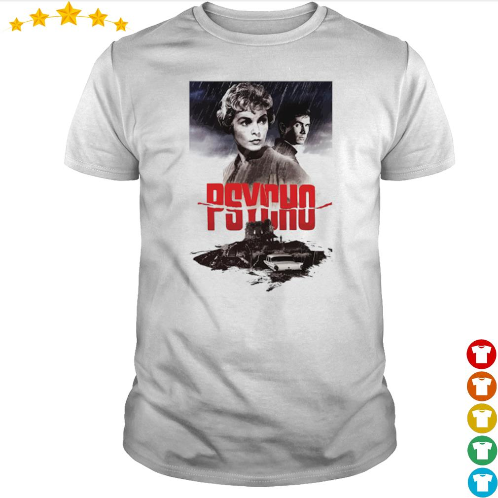 Psycho Janet Leigh and Anthony Perkins movies poster shirt