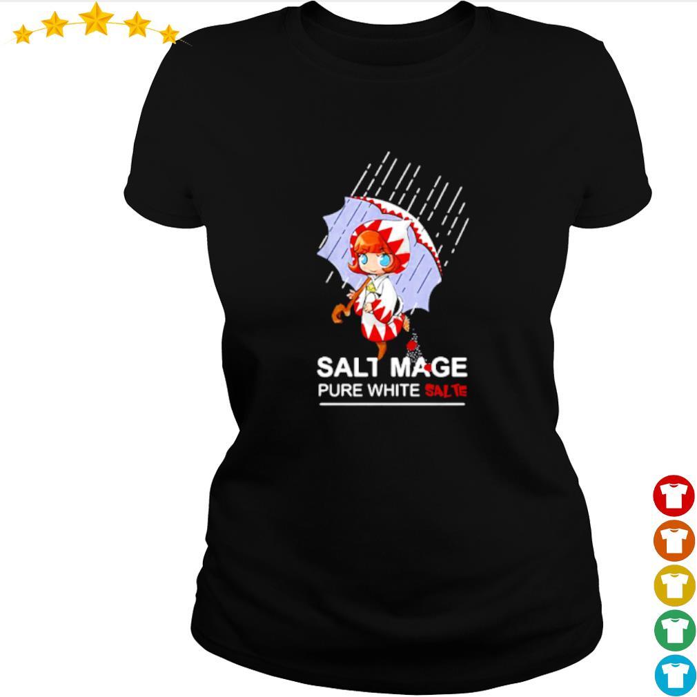 Salt mage pure white salt white mage final fantasy s ladies-tee