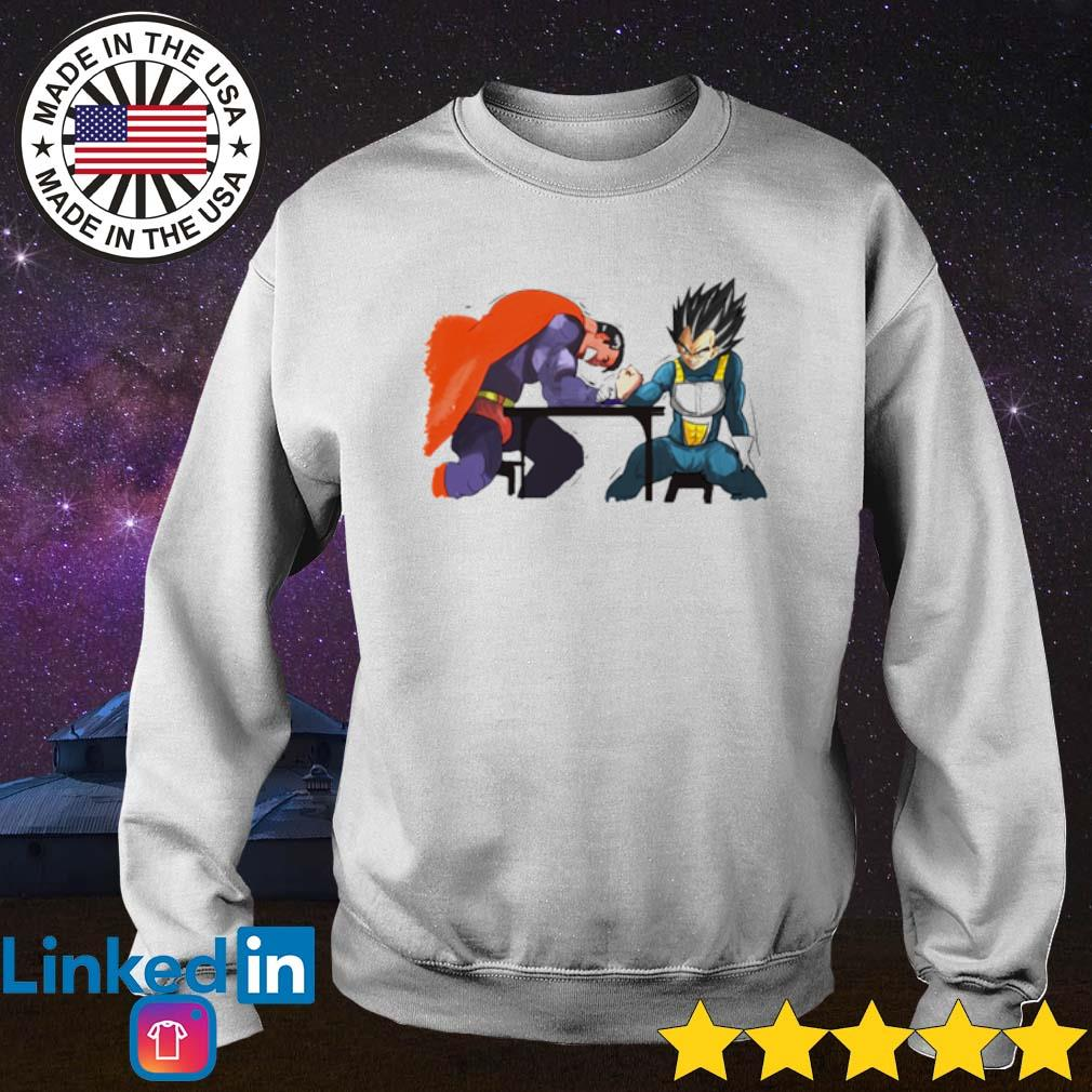 Superman vs Vegeta Arm-Wrestling s Sweater White