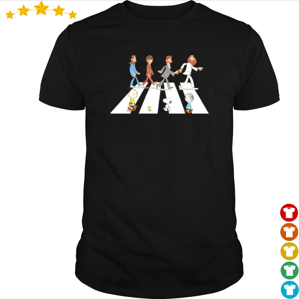 The Abbey Road The Beatles and Peanuts shirt