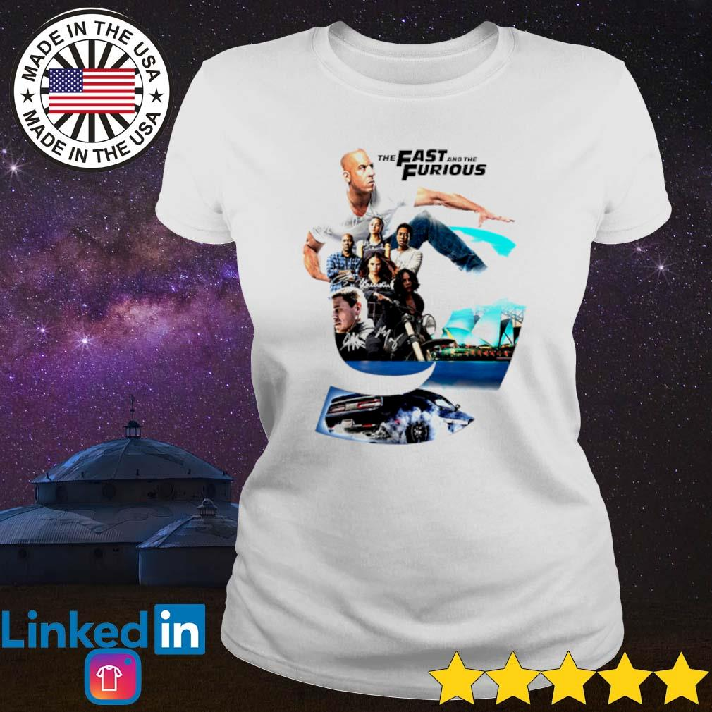 The Fast and The Furious 9 signatures s Ladies Tee White