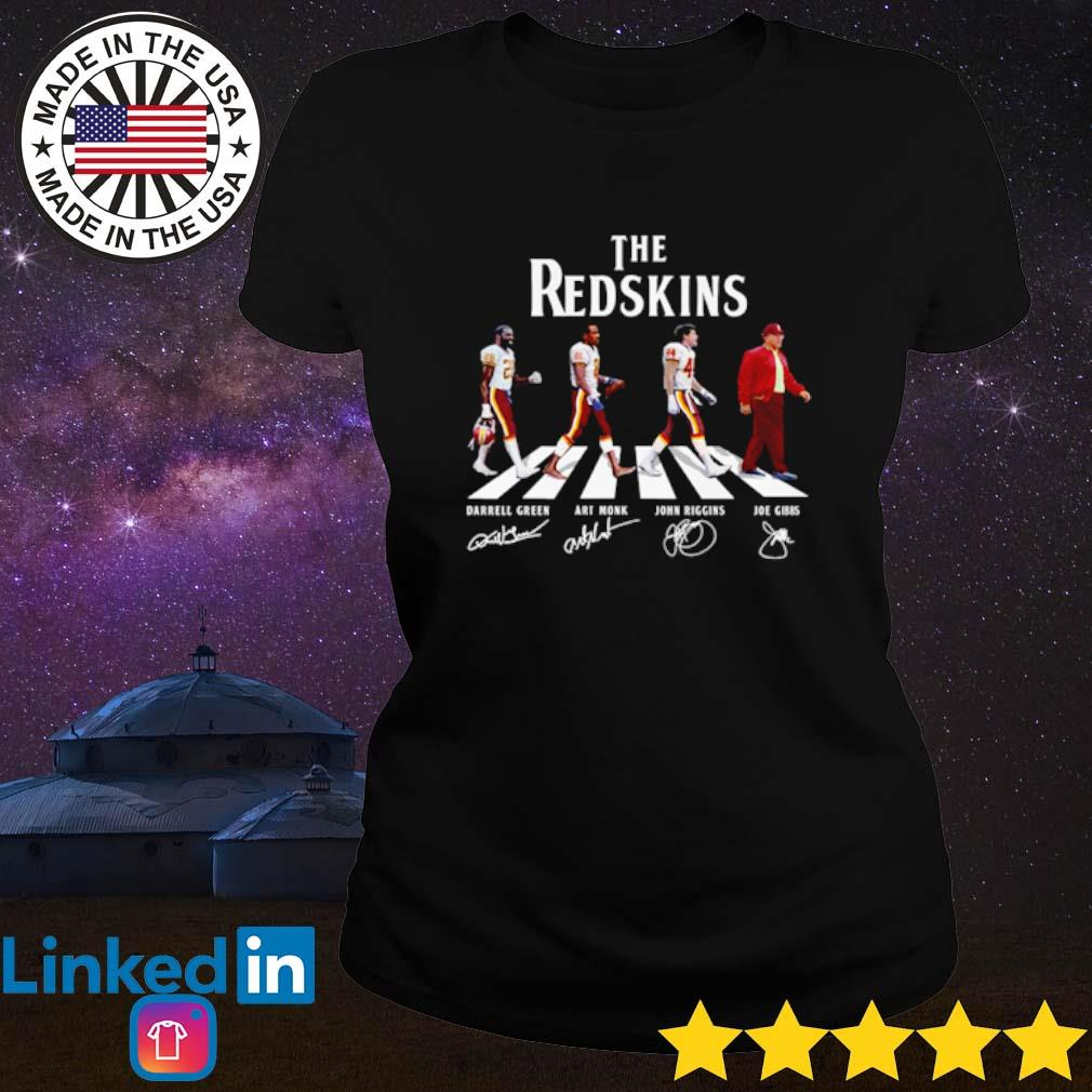 The Washington Redskins Abbey Road team players signatures s Ladies Tee Black